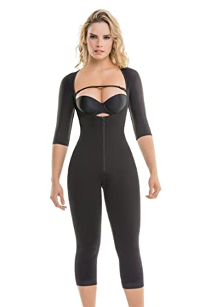 d04a49ae86 295 Women s Top-to-Bottom Arms   Legs Full Body Shaper - Firm Control Long  Sleeve Shapewear – Slimming Compression Bodysuit