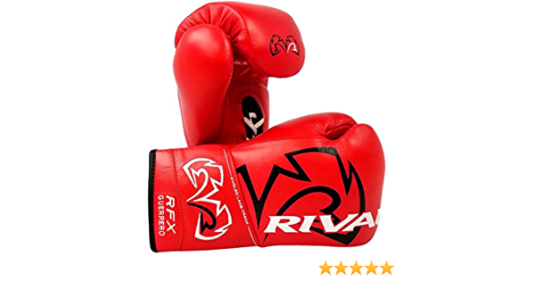 Black Rival Boxing RFX Guerrero HDE-F Pro Fight Lace Up Leather Boxing Gloves