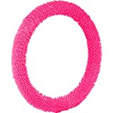Bell Automotive 22-1-97048-9 Pink Shaggy Hyper-Flex Core Steering Wheel Cover