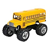 Play Kreative Monster Pull-Back School Bus 5'' - Kids Bus with Pull Back Action - Children Pullback Toys