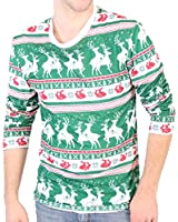 Reindeers & Rabbits Pattern Long Sleeve Ugly Christmas T-Shirt