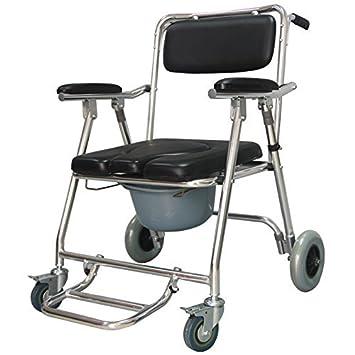 Asiento De Inodoro con Ruedas para La Silla De Ruedas Plegable con Inodoro Móvil Discapacitado para Ancianos Plegable Cómoda: Amazon.es: Deportes y aire ...