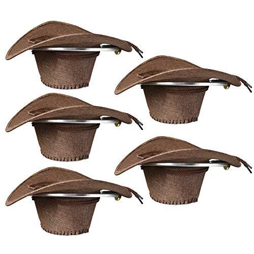 YYST Cowboy Hat Rack Cowboy Hat Holder Organizer 5/PK - No Falling - Big Round Rack