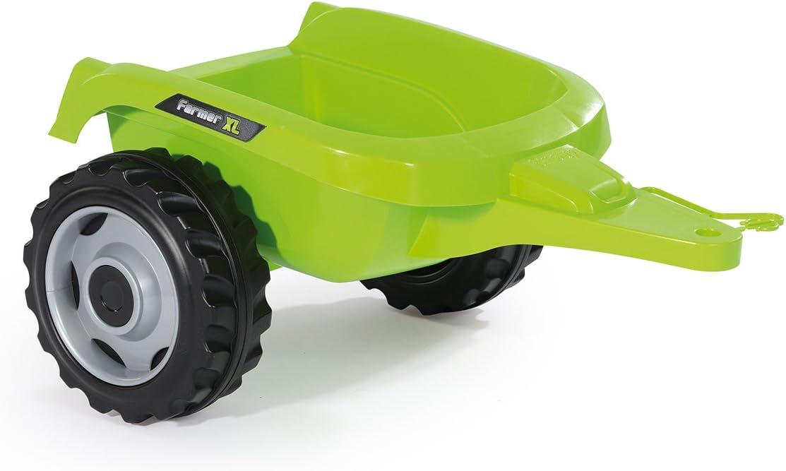 Smoby - 710111 - Tracteur Farmer XL + Remorque - Capot Ouvrable - Vert Vache
