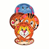 8-Piece ~ Zoo Animal Dessert Paper Plates ~ 7'' ~ New