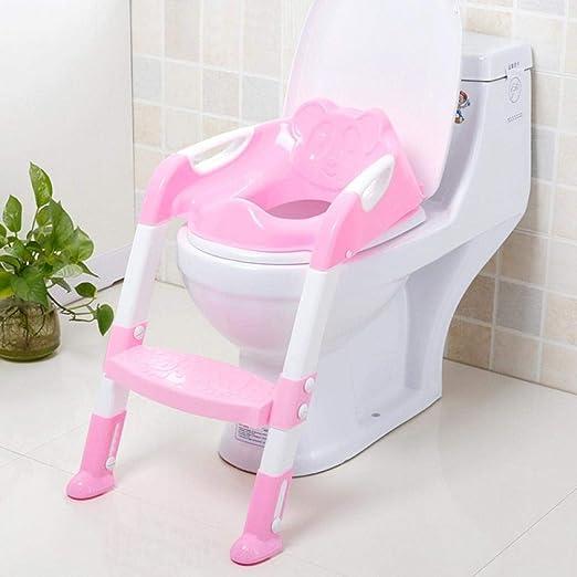 Bebé Plegable De IR Al Baño Asiento De Entrenamiento Infante WC con Escalera Ajustable Asientos Portátiles Urinario Entrenamiento Insignificante For Niños Zzib (Color : Pink): Amazon.es: Hogar