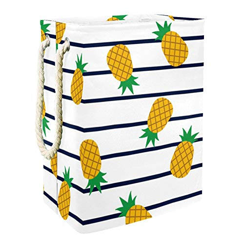 Kids Storage Basket Pineapples Stripes Toy and Accessory Storage Bin Collapsible Organizer Storage Basket for Home Décor…