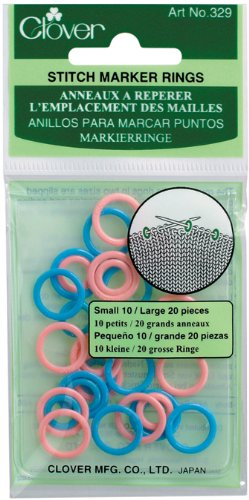 Clover 329 Stitch Marker Rings
