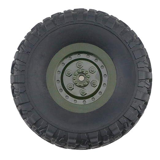 Riosupply Herramienta de la Rueda para JJRC Q60 Q61 Rueda de Coche de Juguete Neumático de plástico Premium Off-Road Trunk RC Vehículo de modificación de ...