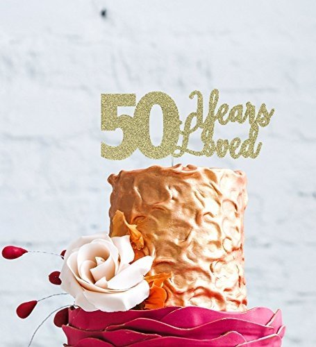LissieLou 50 Years Loved Cake Topper