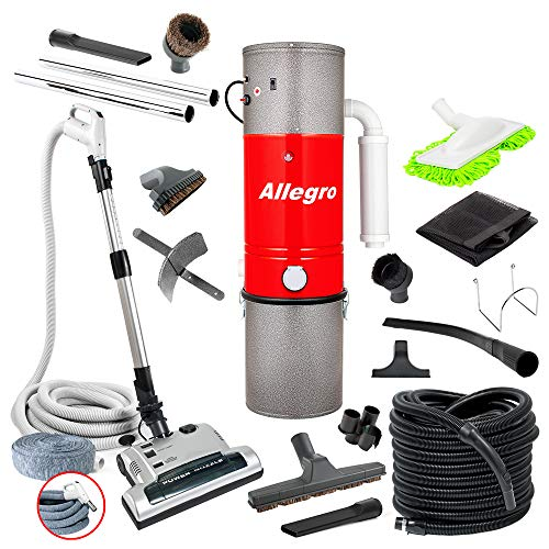 - Allegro MU4500 Champion - 6,000 Square Foot Home Central Vacuum System 35 Foot Electric Hose