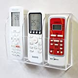 APSOONSELL Acrylic TV Remote Control Holder Wall Mount Media Organizer Phone Air Conditioner Controller Storage Box (3 Case)