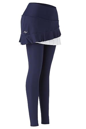 Naffta Paddle-Tennis - Falda pantalón para mujer, color azul marino/blanco, talla M: Amazon.es: Deportes y aire libre