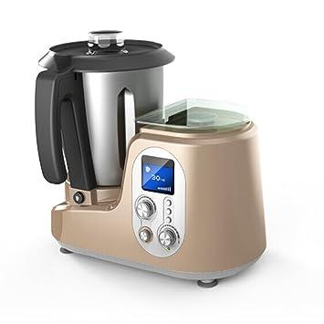 Comptoir mezcladores sopa de horno de cocción al vapor máquina máquina soja máquina Suplemento Baby Food Acero inoxidable, Dorado: Amazon.es: Jardín