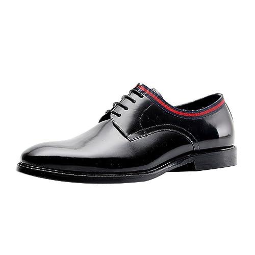 DHFUD Summer England Zapatos De Cuero Vestido De Negocios Corbata ...