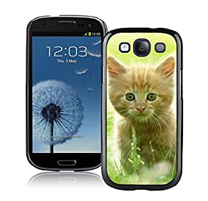 Provide Personalized Customized Green Grass Christmas Cat Black TPU Phone Case For Samsung Galaxy S3,Samsung I9300 Cases