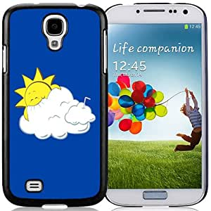Beautiful Custom Designed Cover Case For Samsung Galaxy S4 I9500 i337 M919 i545 r970 l720 With Cartoon Sun Eating Clouds Phone Case Cover