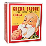 CELLA Shaving cream Soap - XL GIANT Size - One Kilo Box 1000GR - almond shave creme - Fills cella container 12 times !!