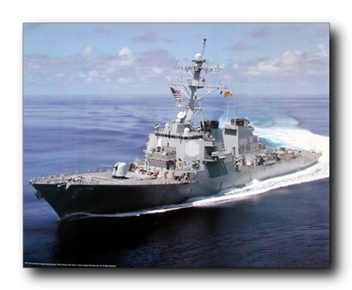 USS Cole Guided Missile Destroyer Carrier Navy Ship Wall Decor Art Print Poster