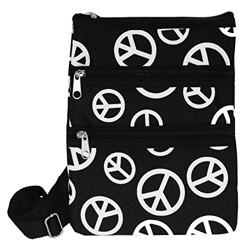 World Traveler Womens 9 Inch Swingpack Purse Bag, Black W...