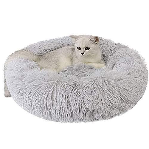 Cama para Perros Gatos Mediano Pequeño Cojin Redonda Antiestres Suave