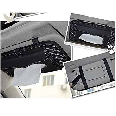StyleZ CD Visor Organizer,Car Sun Visor Tissue Bag Multi Function Double-deck Auto Extra Car Vehicle Pocket ,CD Holder Visor with Tissue Holder,16 Cd/dvd Slots Stored Safely CD Storage Cases for Car: Home Audio & Theater
