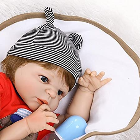 Amazon.com: NPK collection Reborn Baby Doll Full Silicone ...