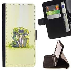 Momo Phone Case / Flip Funda de Cuero Case Cover - Monster Boy;;;;;;;; - LG G4 Stylus H540