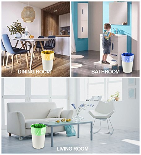 Small Trash Bags,2.6 Gallon Garbage Bags FORID Bathroom Trash can Liners for Bedroom Home Kitchen 150 Counts 5 Color by FORID (Image #2)