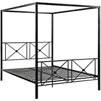 Homelegance Rapa Metal Canopy Queen Bed, Black