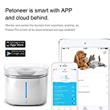 Smart Dog Cat Water Fountain - App Remote Control - Highest Water Purity - Filters Impurities Toxins - Activated Carbon Filter Ion Exchange - Quiet Water Pump - Automatic Dispenser Pet Drinking Bowl