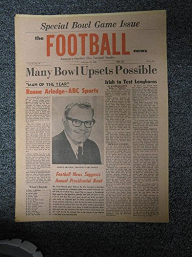 Vintage FOOTBALL NEWS NEWSPAPER DECEMBER 31 1969 ROONE for sale  Delivered anywhere in USA