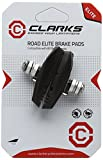 Clarks CPS250 Elite Road Brake Pads Integral Block W/ Angle Adjustment for Shimano, Tektro, 55 mm, Black