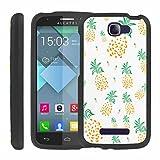 Alcatel [Fierce 2] Fierce2 Case - [SlickCandy] [Pineapple Art] Front & Back Cover Phone Case for Alcatel One Touch [Fierce 2]
