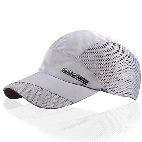 Visor Ball Cap - YING LAN Men's Summer Outdoor Sport Baseball Hat Running Visor Sun Cap Grey 1