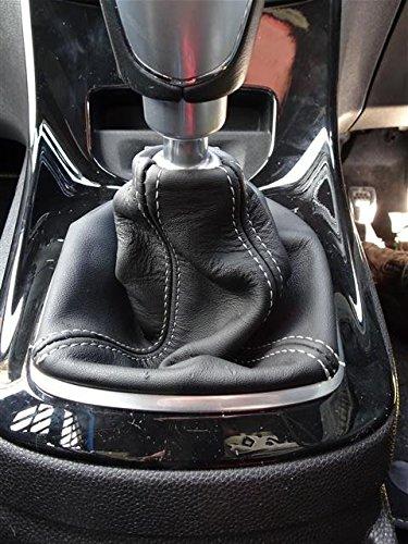 Incl.ST RedlineGoods Bota//Funda para Palanca de Cambios 2 para Fiesta 2011-18 Cuero Negro Costura Negra