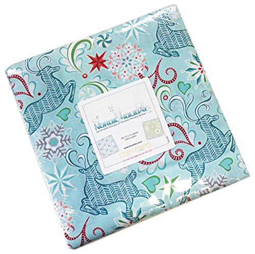Amanda Murphy Nordic Holiday 10X10 Pack 42 10-inch Squares Layer Cake Benartex