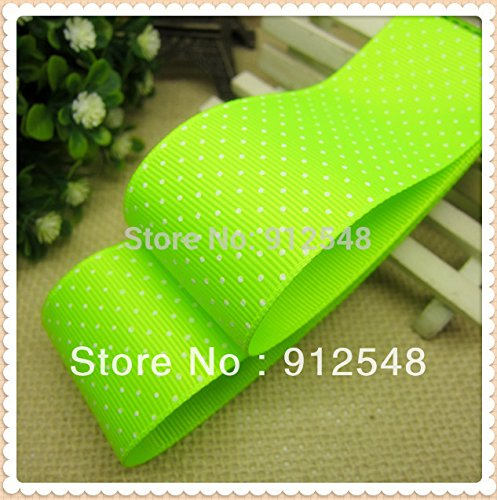 FunnyCraft 10 Yards 38Mm Dots Polka Grosgrain Ribbon(24 Colors) The Tape For Sewing Diy Hair Accessories Handmade