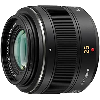 PANASONIC LUMIX G LEICA DG SUMMILUX LENS, 25MM, F1.4 ASPH., MIRRORLESS MICRO FOUR THIRDS, H-X025 (USA BLACK)