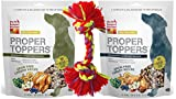 The Honest Kitchen Proper Toppers Grain Free Superfood For Dogs 2 Flavor with Toy Bundle, (1) Each: Chicken and Turkey, 5.5 Ounces