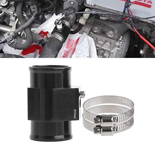 (YUSHHO56T Car Interior Parts Hose Adapter 40mm Water Temp Temperature Joint Pipe Sensor Gauge Radiator Hose Adapter - Black)