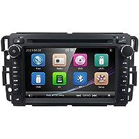 Car Stereo DVD Player For GMC Chevy Silverado 1500 2012 GMC Sierra 2011 2010 7 inch Quad Core Double Din In Dash Touchscreen FM/AM Radio Receiver Navigation Bluetooth