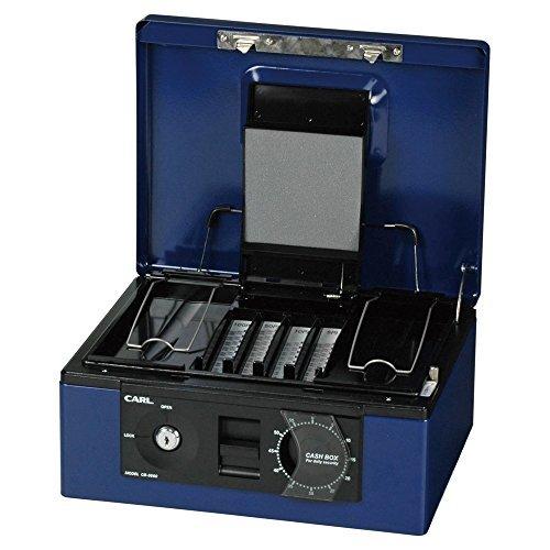 カール事務器 キャッシュボックス ブルー CB-8660-B 00001677 【まとめ買い3個セット】 B01JHW1QKY