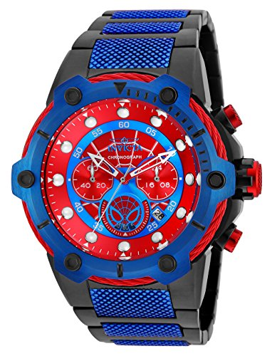 Men's 'Marvel' Quartz Stainless Steel Casual Watch, Color:Two Tone (Model: ) - Invicta 25782