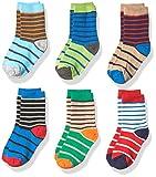 Jefferies Socks Little Boys' Stripe Cotton Crew Socks 6 Pair Pack, Multi, Small