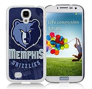 New Custom Design Cover Case For Samsung Galaxy S4 I9500 i337 M919 i545 r970 l720 Memphis Grizzlies 5 White Phone Case