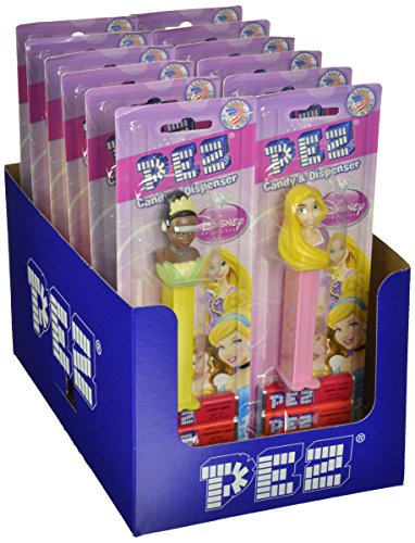 PEZ Disney Assortment, Princesses, 0.87 Ounce (Pack of 12) (Pez Disney Dispensers)