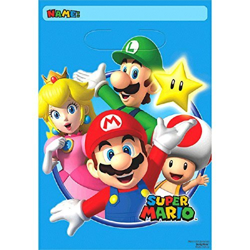 Super Mario Loot Bags (Value 16-Pack) - 3rd Birthday Bag