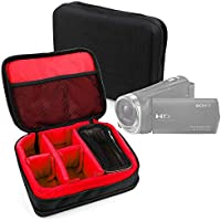 Protective EVA Portable Case (in Red) for Sony HDR-CX330, HDR-CX405, HDR-CX625B, HDR-MV1B, HDR-PJ240, HDR-PJ275, HDR-PJ330, HDR-PJ340, HDR-PJ410, HDR-PJ410, HDR-PJ540, HDR-PJ620, HDR-PJ810