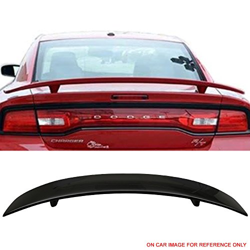 - Pre-painted Trunk Spoiler Fits 2011-2018 Dodge Charger | OE Factory Style Painted #PX8 Black Rear Trunk Boot Lip Wing Deck Lid Other Color Available By IKON MOTORSPORTS | 2012 2013 2014 2015 2016 2017